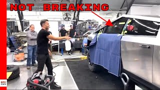 Tesla Cybertruck Window NOT Breaking During Demo