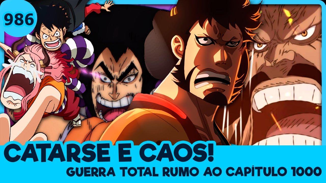 A GUERRA DE WANO ENTROU NO CLÍMAX! KAIDO VS BAINHAS VERMELHAS (One Piece 986 | Mangá)