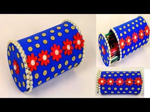 How to make plastic bottle jewellery box - Jewellery box out of plastic bottles - Recycling ideas