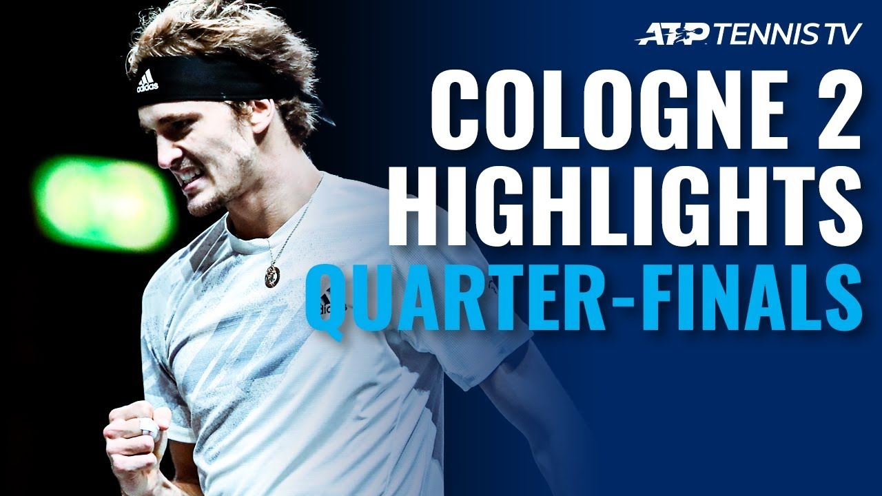 Zverev, Schwartzman Dig Deep To Make Last 4   Cologne 2 2020 Quarter-Final Highlights