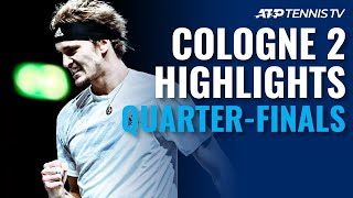 Zverev, Schwartzman Dig Deep To Make Last 4 | Cologne 2 2020 Quarter-Final Highlights