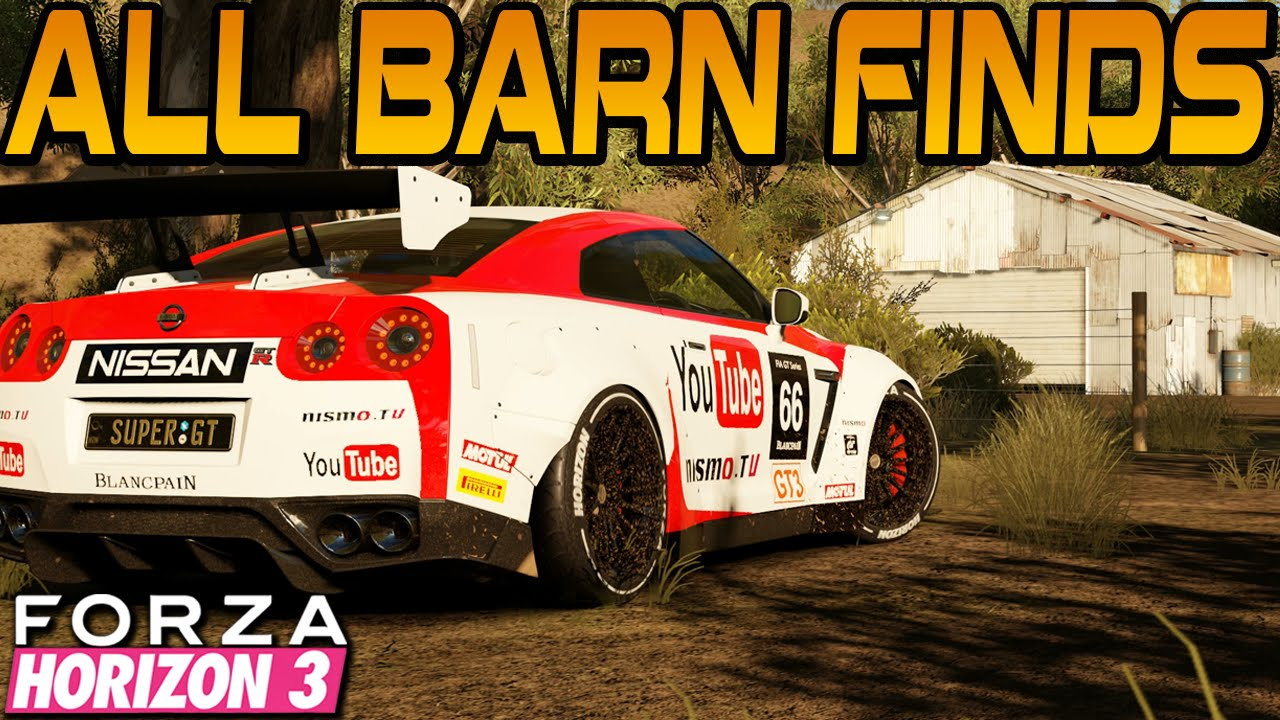 Forza Horizon 3 ALL 15 BARN FIND LOCATIONS GUIDE