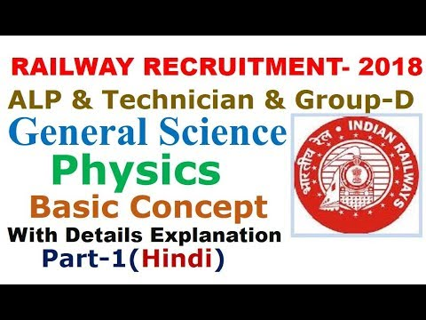 General Science(Physics) for RRB Railway Exam: ALP, Technician & Group-D Part-1