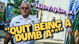 Mr. Grumpy Pants Has A Major ATTITUDE PROBLEM - 1st Amendment Audit - 17th District Philadelphia, PA