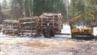 John Deere 350 with Gafner Loader - Old School Logging