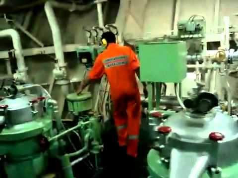 Unmanned machinery space (Engine room of a cargo vessel)