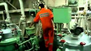 Unmanned machinery space (Engine room of a cargo vessel) 2008