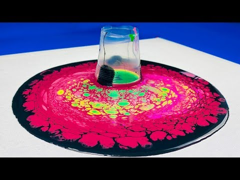 SATISFYING Open Cup Acrylic Pouring! Dirty Pour Gorgeous Fluid Art