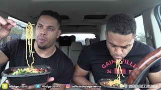 Eating at Pei Wei Asian Diner @hodgetwins