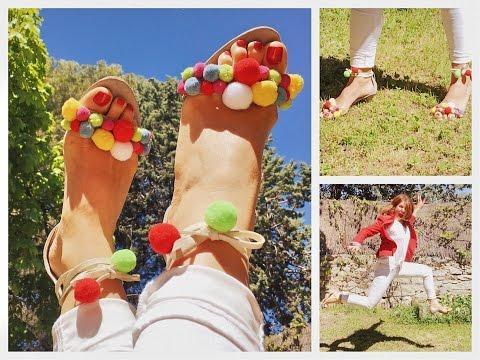 DIY. Sandalias para este verano. Se parecen mucho a las de 770€.
