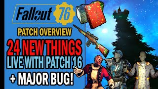 Fallout 76 - 24 NEW THINGS Being Added with Patch 16 - Major BUG Breaks the Game 😩 | Patch Overview