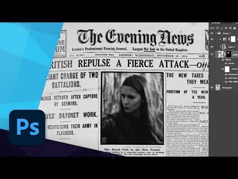 CREATE A CUSTOM NEWSPAPER in PHOTOSHOP