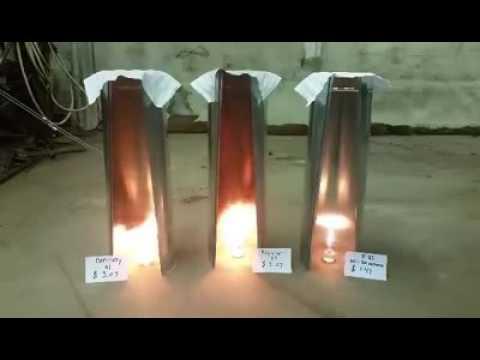 E0 VS E10 VS E85 Burn test