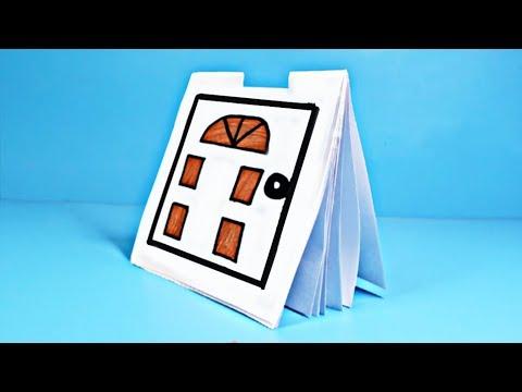 📘 БЛОКНОТ из 1 листа бумаги А4 /// как сделать своими руками с нуля без сшивания
