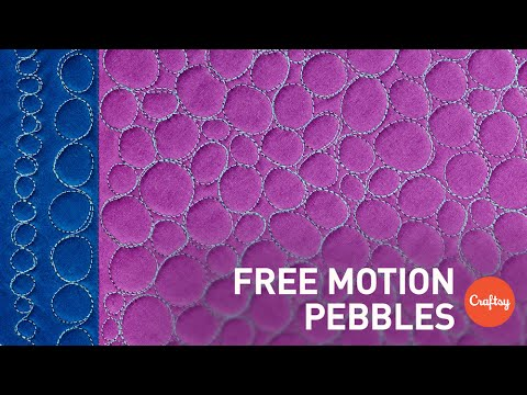 Free Motion Quilting (FMQ) Pebbles | Quilting Tutorial with ... : free motion quilting tutorials - Adamdwight.com