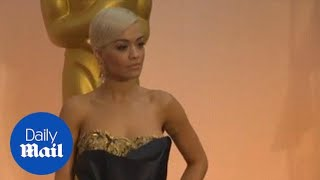 Rita Ora stuns on the Oscars red carpet in Los Angeles - Daily Mail
