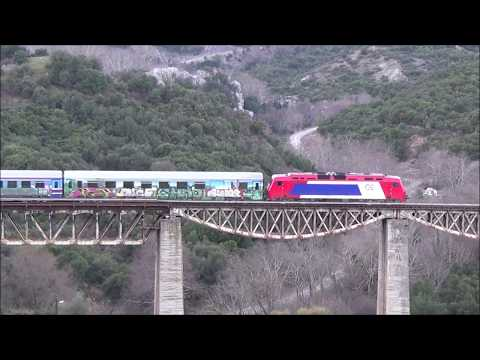 InterCity & Regional trains over the Greek mountains (06/01/18)