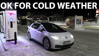 VW ID3 road trip to -25°C in Folldal part 2