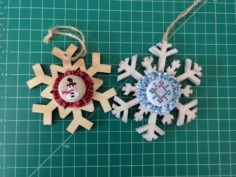Flosstube: Snowflake Ornament Tutorial thumbnail