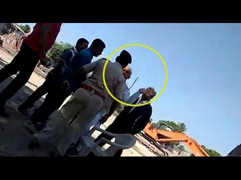 Amreli: Surat Business Man JP Thesiya slapped PSI, video goes viral