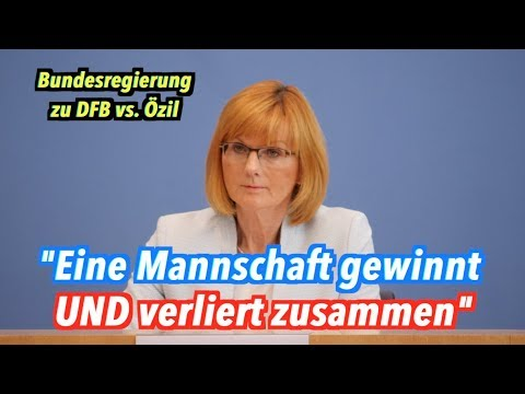 Bundesregierung zu DFB-Bosse vs. Mesut Özil