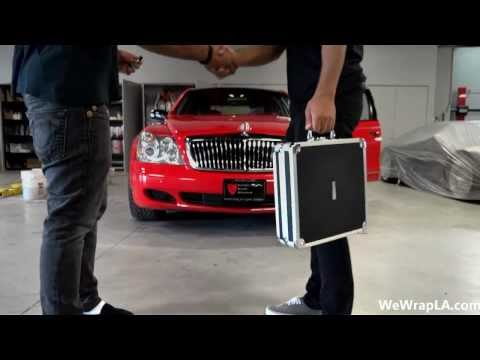WeWrapLA - Maybach 57s Wrapped In Gloss Red - 90210Wrap.com HD