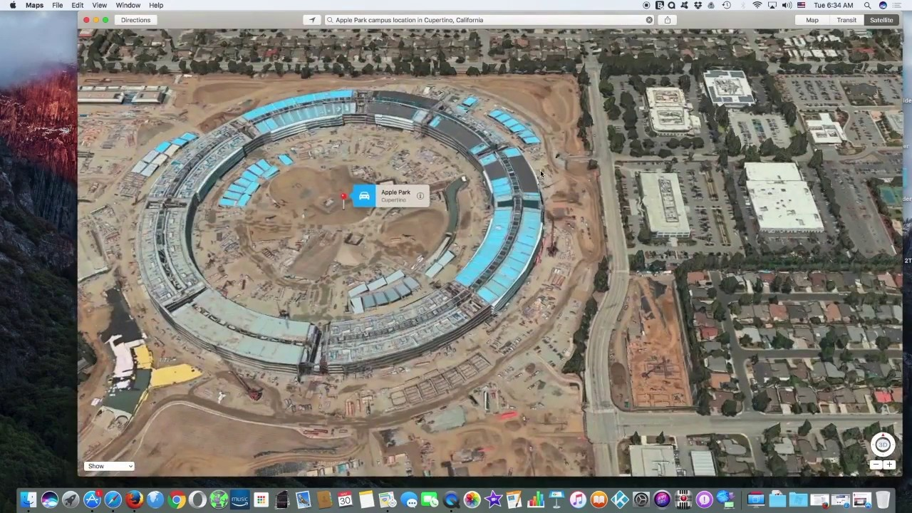 Apple Maps Now Shows Apple Park 3D on hp campus map, pentagon basement map, pentagon inside map, pentagon north parking lot map,