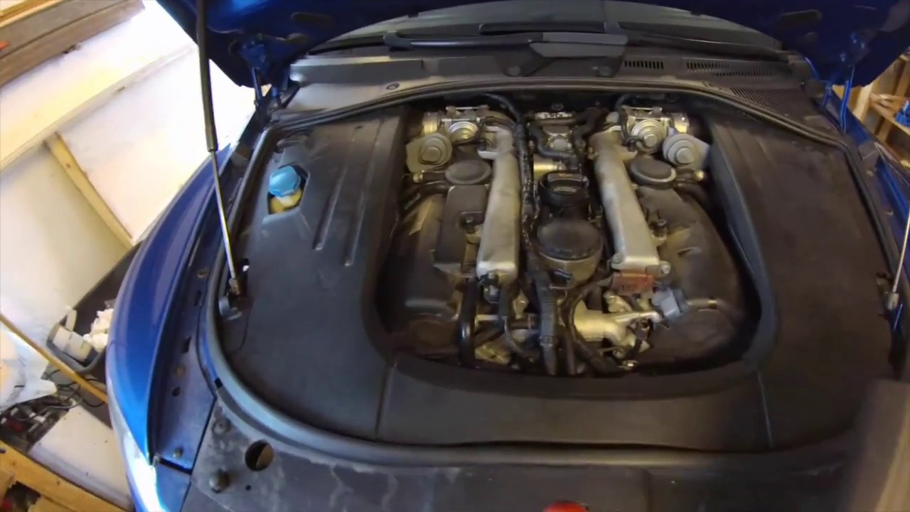 Touareg V10 Fuelfilter service - YouTube