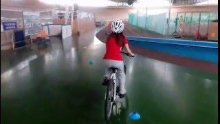 Велошкола. Обучение езде на велосипеде. Ученица Татьяна.