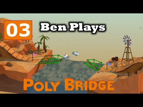 Poly Bridge 03 - Galloping Gertie (Poly Bridge Walkthrough)