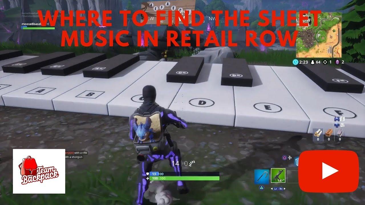 Fortnite Play Piano Retail Row Music Sheet Retail Row Epic Sheet Music