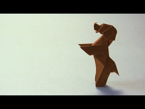 Origami Instructions Standing Dog Down Boy Paul Frasco Youtube