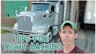 Backing Into a Vęry Tight Dock😱 - Ryan's Tips For Owner Operators/Company Drivers On Tight Backing