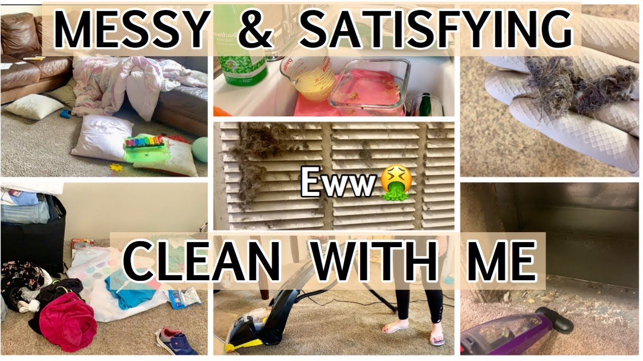 ULTIMATE MESSY CLEAN WITH ME/ SATISFYING CLEANING MOTIVATION 2020/EXTREME CLEANING