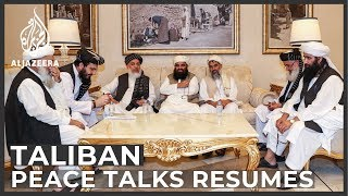 First round of resurrected US-Taliban peace talks open in Qatar