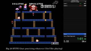 Donkey Kong (Game A - One Loop Emulator) in 1:09