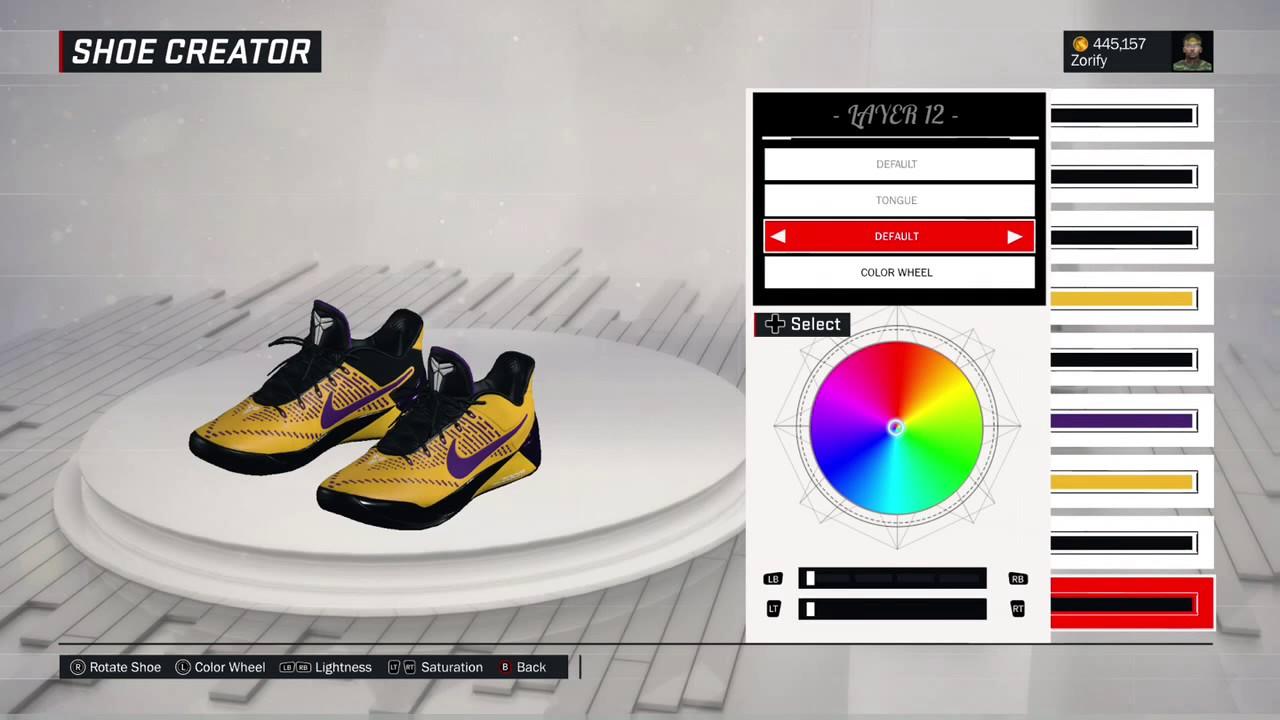 NBA 2K17 Shoe Creator - Nike Kobe AD Custom
