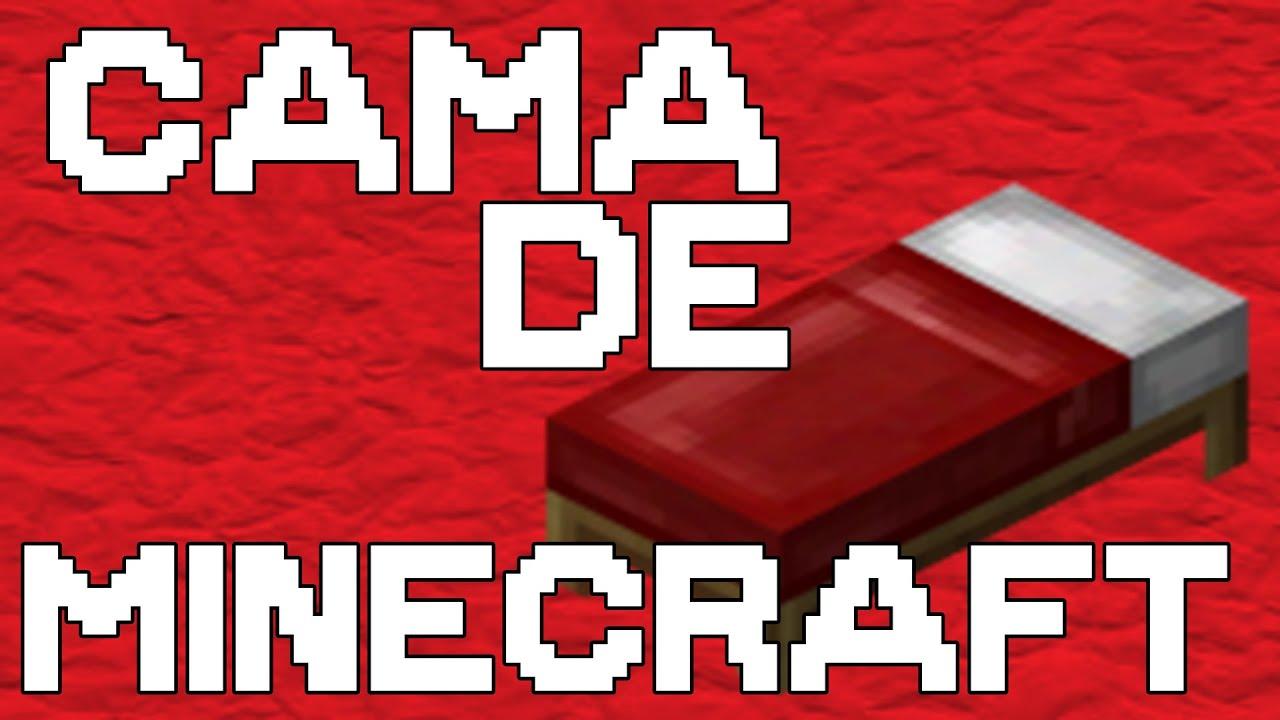 Minecraft como hacer una cama tutorial sarc stico for Cama minecraft