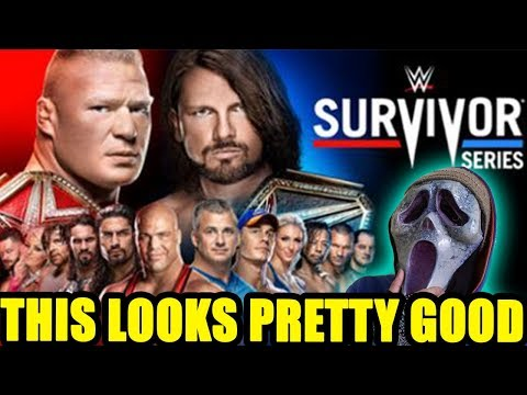 WWE Survivor Series 2017 Match Card...