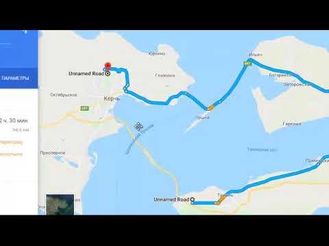 Забавный баг у карт Гугла по отношению к Крымскому мосту