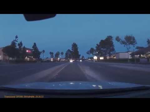 Transcend DrivePro 200 Dash Cam 1080HD Evening in San Diego