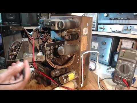Deforest Crosley Shortwave Radio Video #11 - Lights and Wires