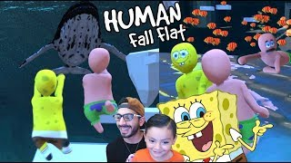 Karim es Bob Esponja | Mundo de Plastilina Human Fall Flat | Juegos Karim Juega
