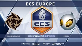 NiP vs Dignitas - Dust 2 (ECS Season 2 Europe)