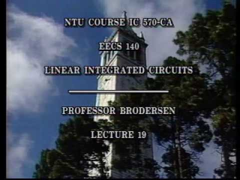 Analog Integrated Circuits (UC Berkeley) Lecture 29
