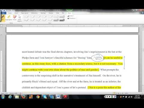 Writing the Documented Essay
