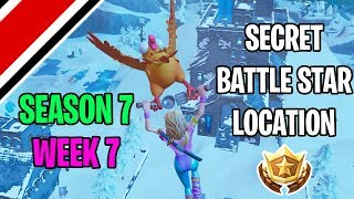Fortnite Season 7 Week 7 Secret Battlestar Location (Snowfall Challenges)