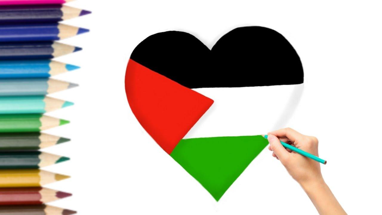 رسم علم فلسطين 🇵🇸 ️ - YouTube