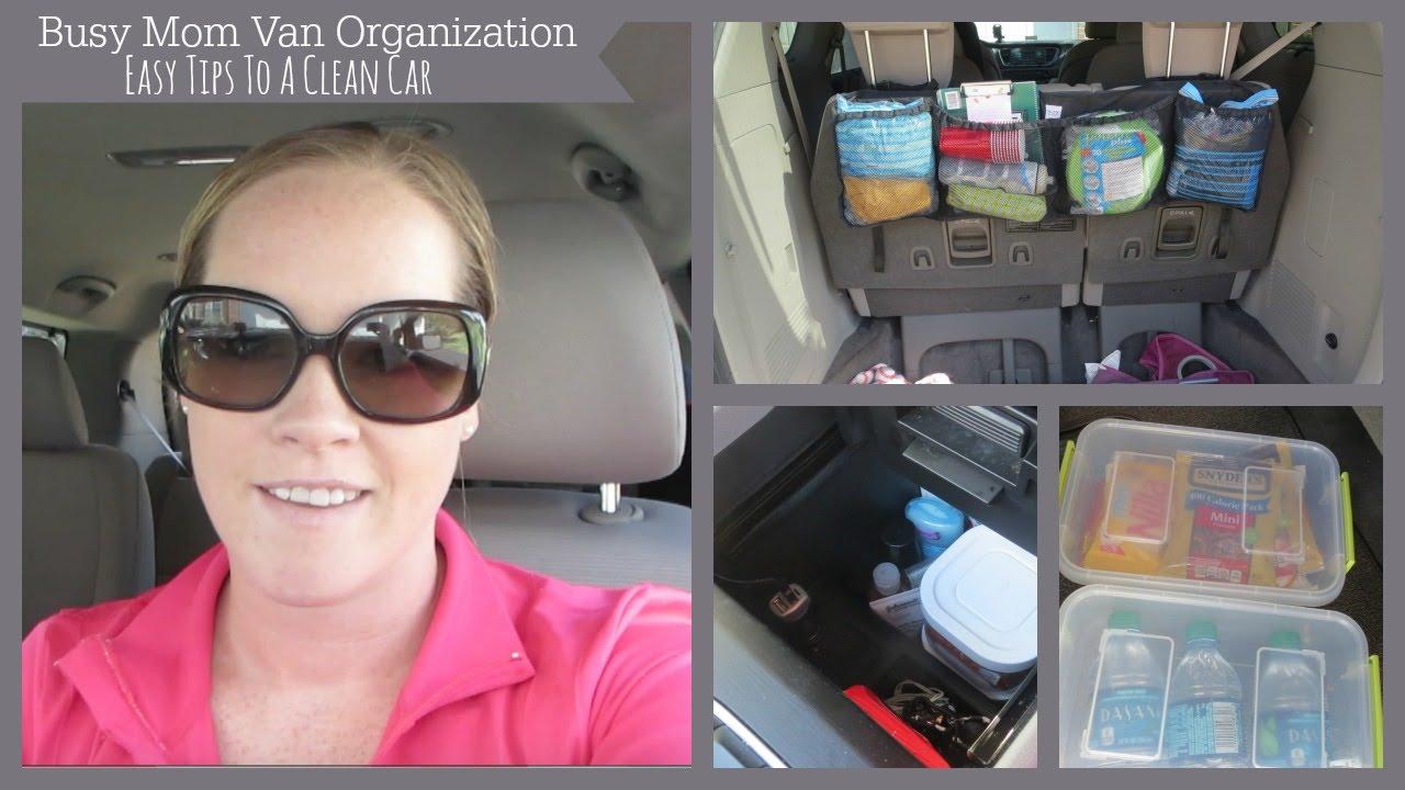 Mini Van Organization Tips To Keep A Clean Car Youtube