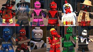 LEGO DC Supervillains - EPIC Deadpool Showcase! Chicken Deadpool, Pirate Deadpool & More!